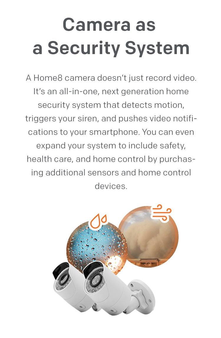 home8 outdoor camera security alarm system