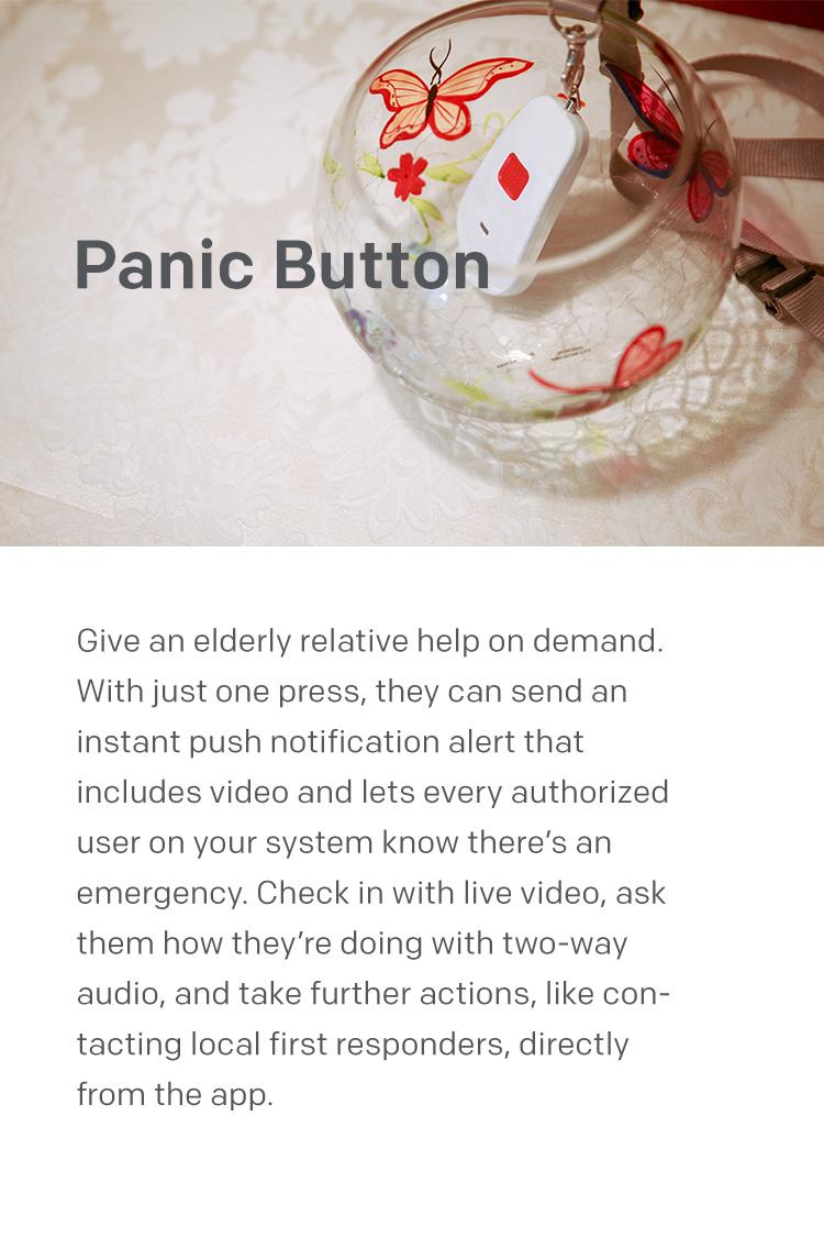 home8 panic button alarm alert