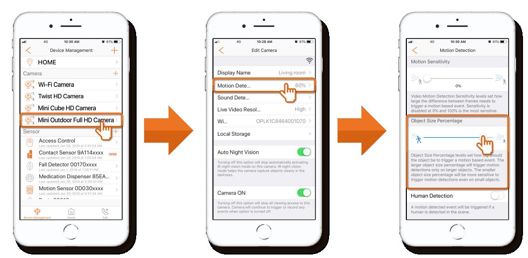 Motion Detection Customization Options